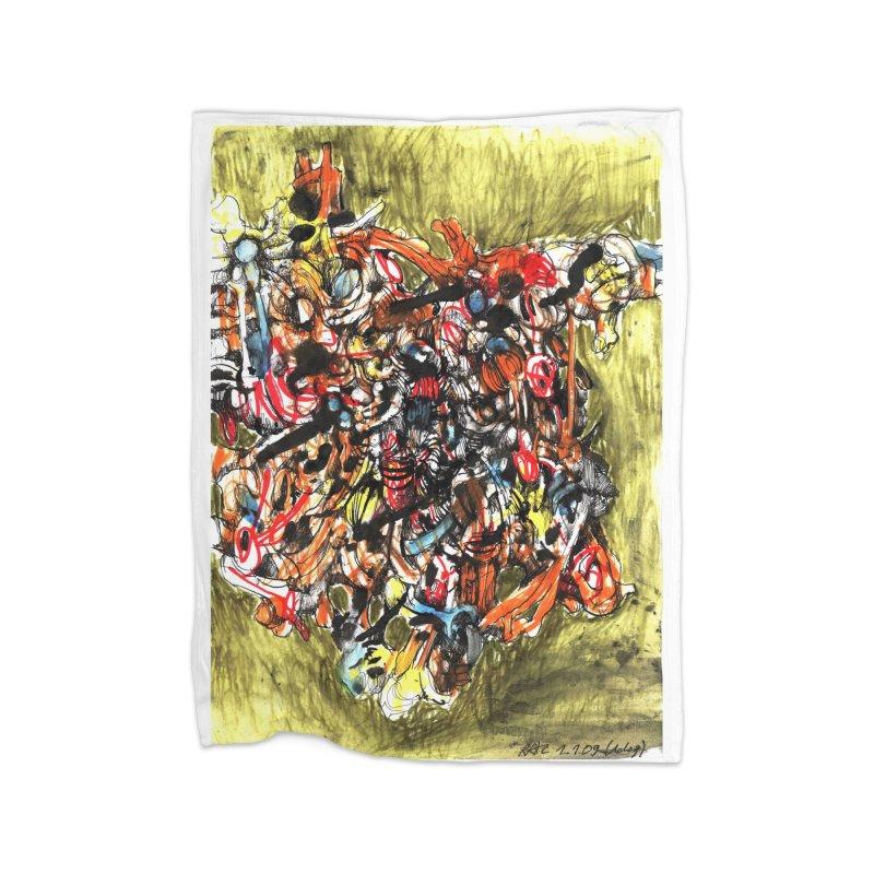 Drawing Blog No.2 - 1.1.09 Home Fleece Blanket Blanket by schizo pop