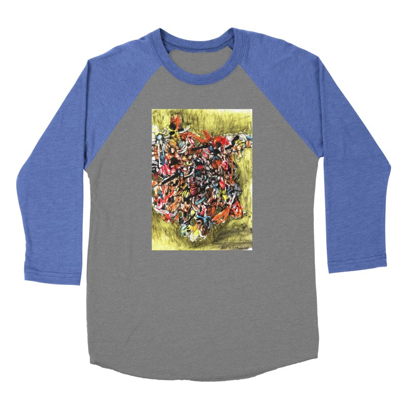 Drawing Blog No.2 - 1.1.09 Women's Baseball Triblend Longsleeve T-Shirt by schizo pop