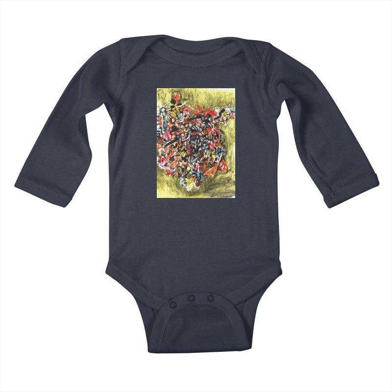 Drawing Blog No.2 - 1.1.09 Kids Baby Longsleeve Bodysuit by schizo pop