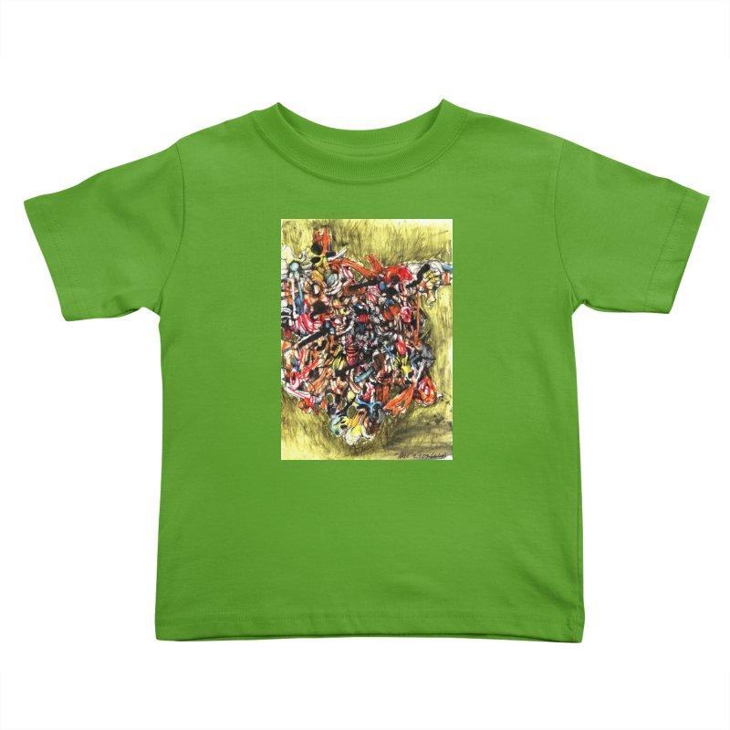 Drawing Blog No.2 - 1.1.09 Kids Toddler T-Shirt by schizo pop