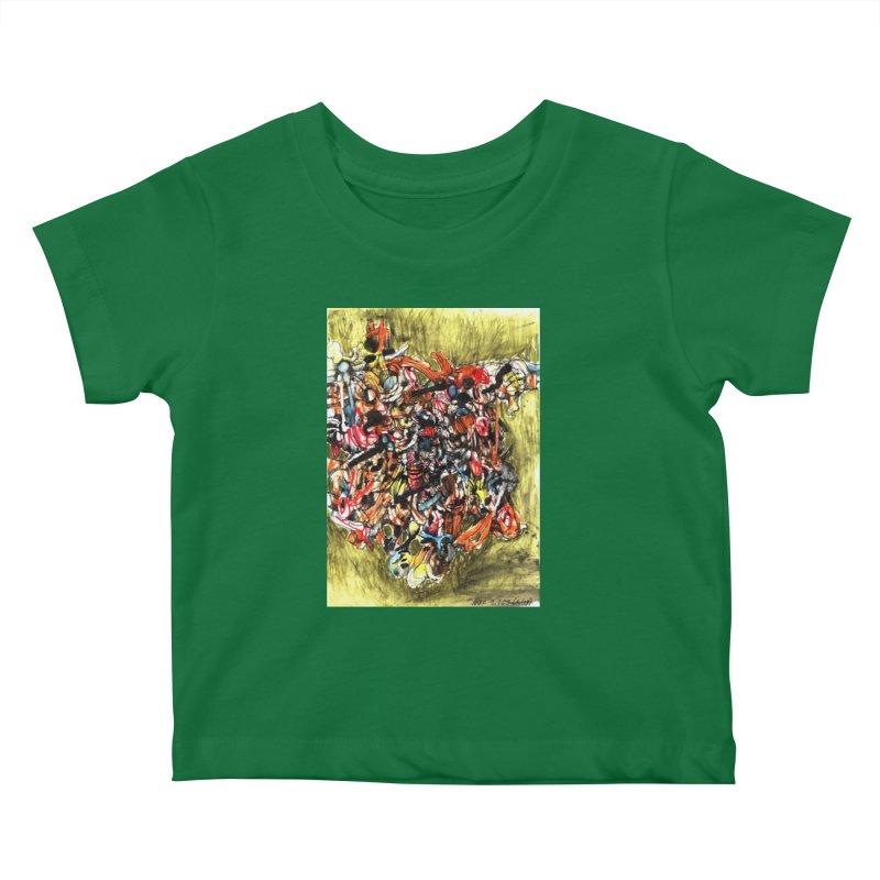 Drawing Blog No.2 - 1.1.09 Kids Baby T-Shirt by schizo pop