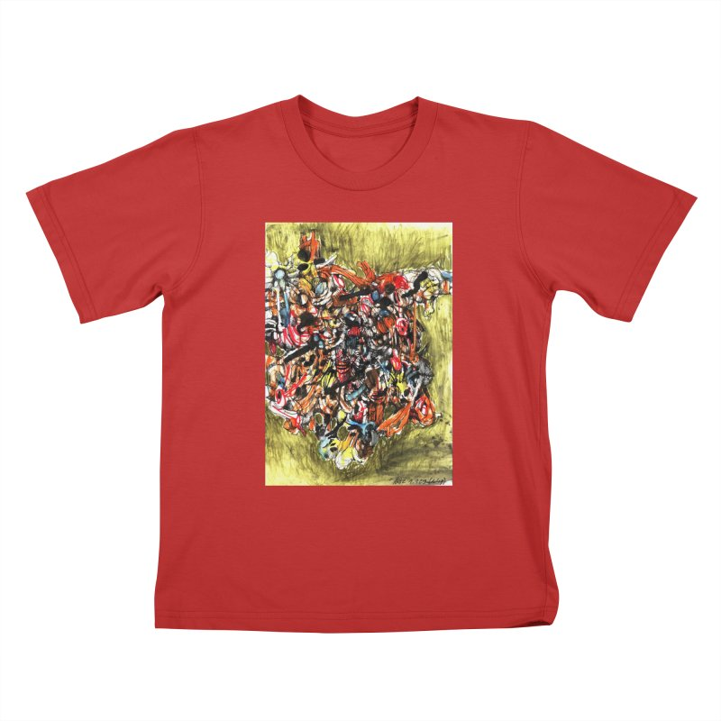Drawing Blog No.2 - 1.1.09 Kids T-Shirt by schizo pop