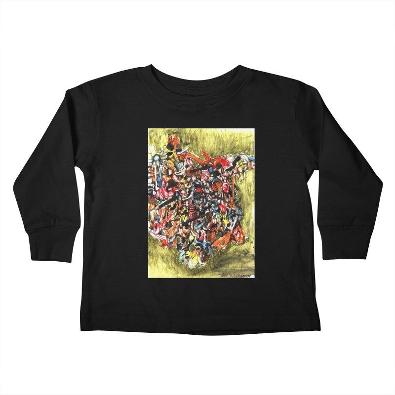 Drawing Blog No.2 - 1.1.09 Kids Toddler Longsleeve T-Shirt by schizo pop
