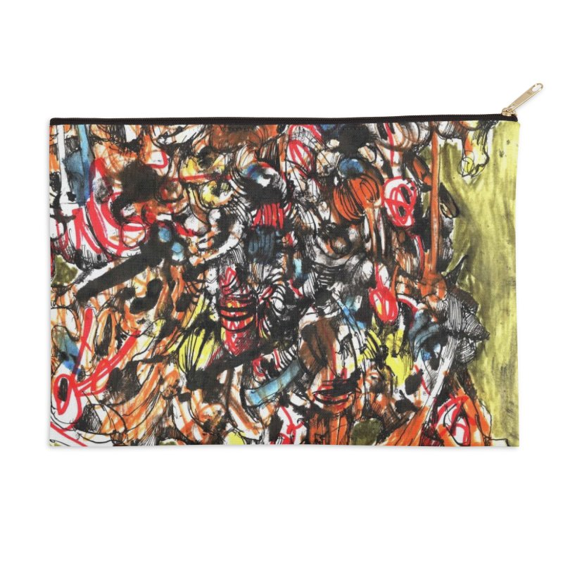 Drawing Blog No.2 - 1.1.09 Accessories Zip Pouch by schizo pop