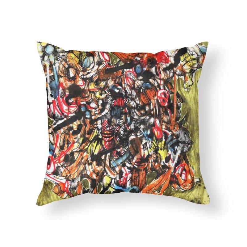 Drawing Blog No.2 - 1.1.09 Home Throw Pillow by schizo pop