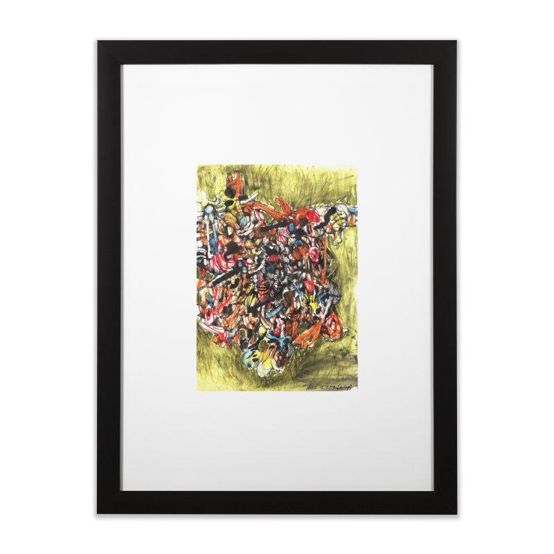 Drawing Blog No.2 - 1.1.09 Home Framed Fine Art Print by schizo pop