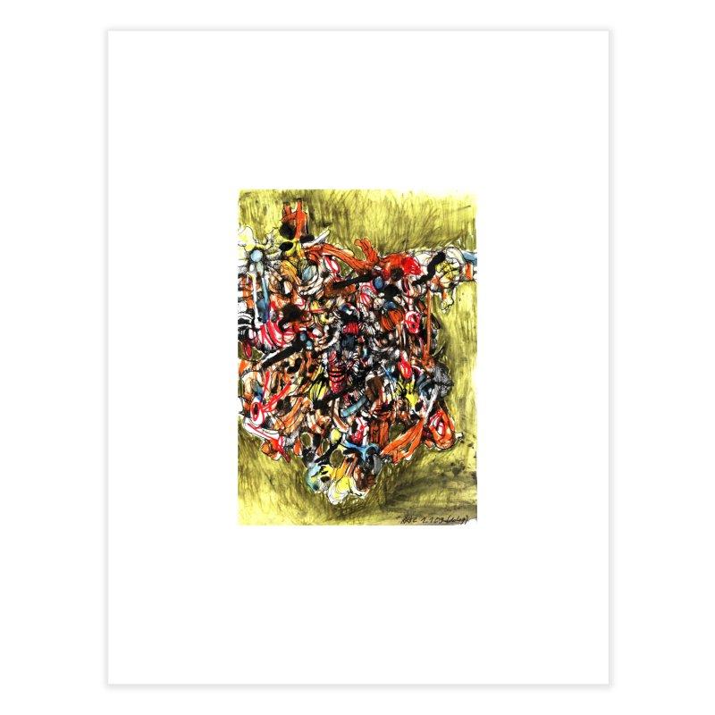 Drawing Blog No.2 - 1.1.09 Home Fine Art Print by schizo pop