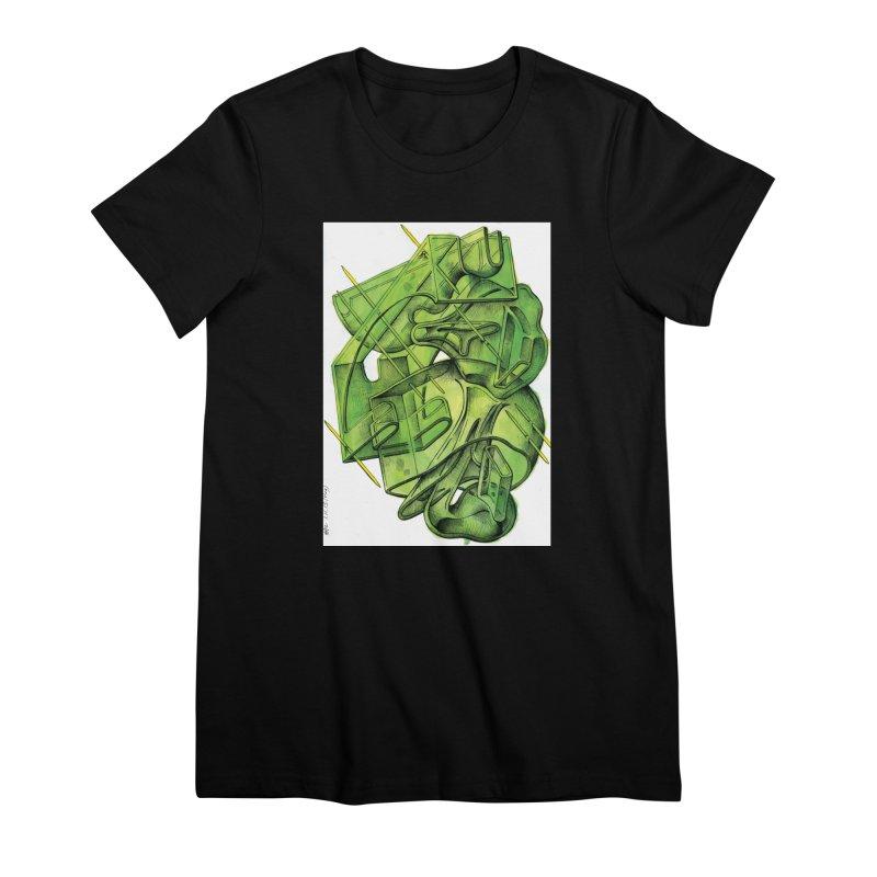 Drawing Blog No.5 - 1.11.13 Women's Premium T-Shirt by schizo pop