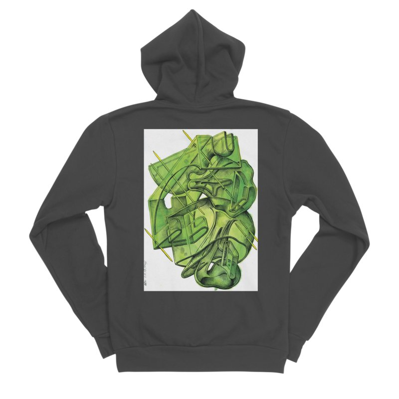 Drawing Blog No.5 - 1.11.13 Women's Sponge Fleece Zip-Up Hoody by schizo pop