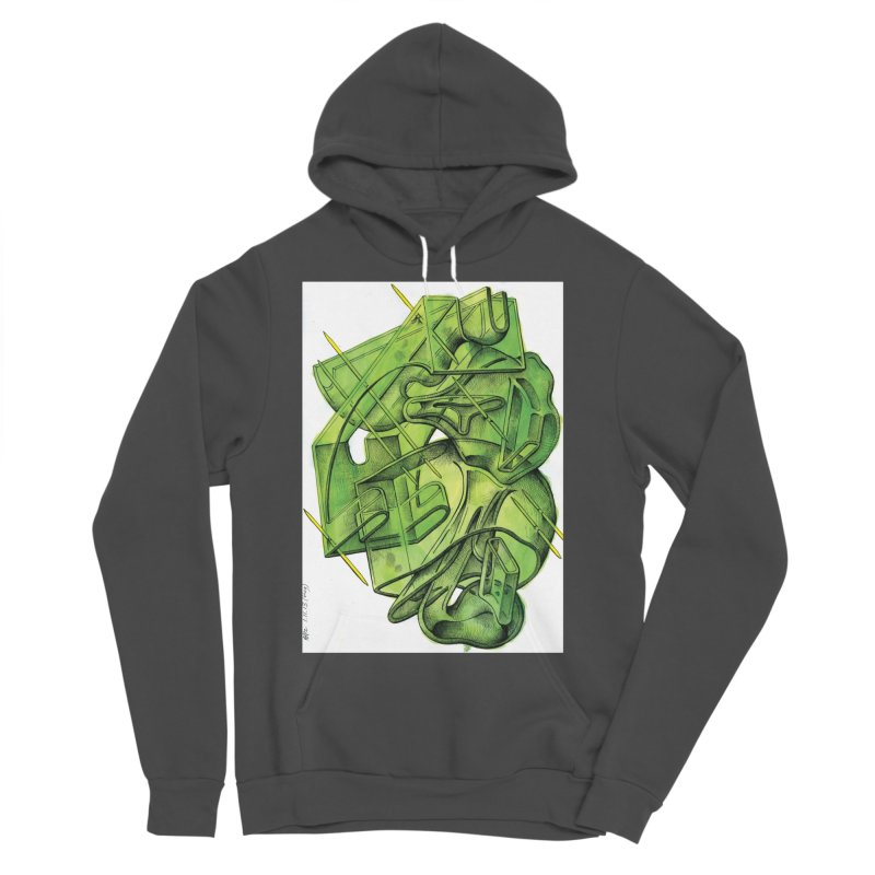 Drawing Blog No.5 - 1.11.13 Men's Sponge Fleece Pullover Hoody by schizo pop