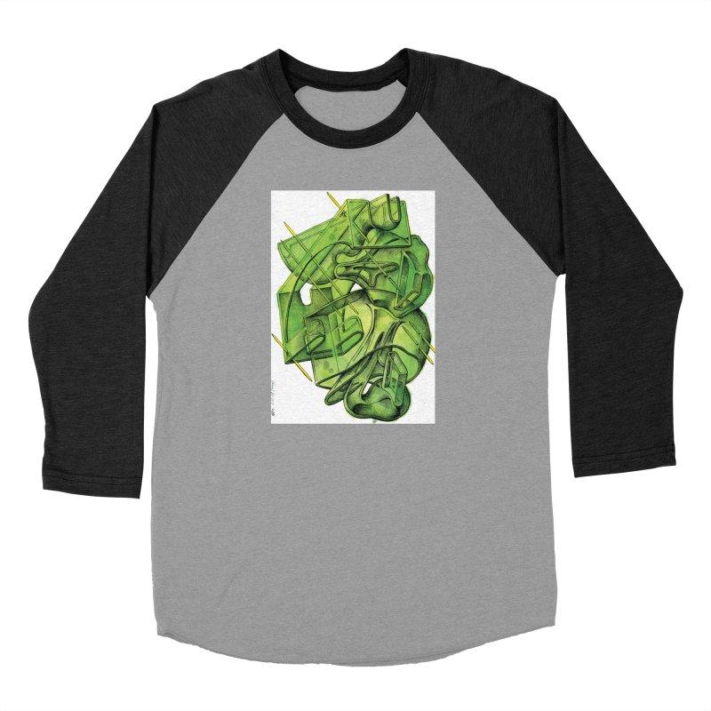 Drawing Blog No.5 - 1.11.13 Men's Baseball Triblend Longsleeve T-Shirt by schizo pop
