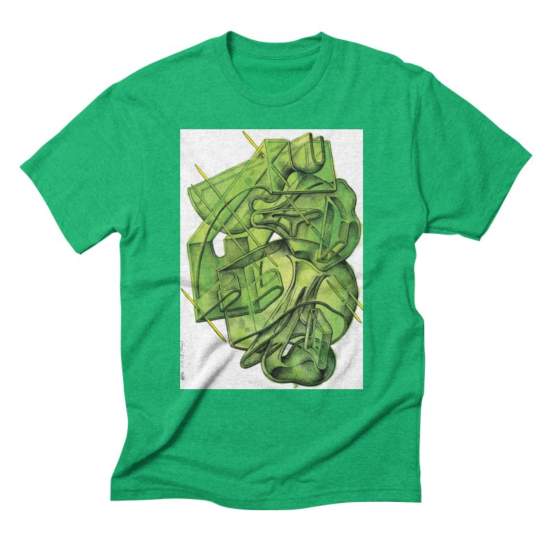 Drawing Blog No.5 - 1.11.13 Men's Triblend T-Shirt by schizo pop