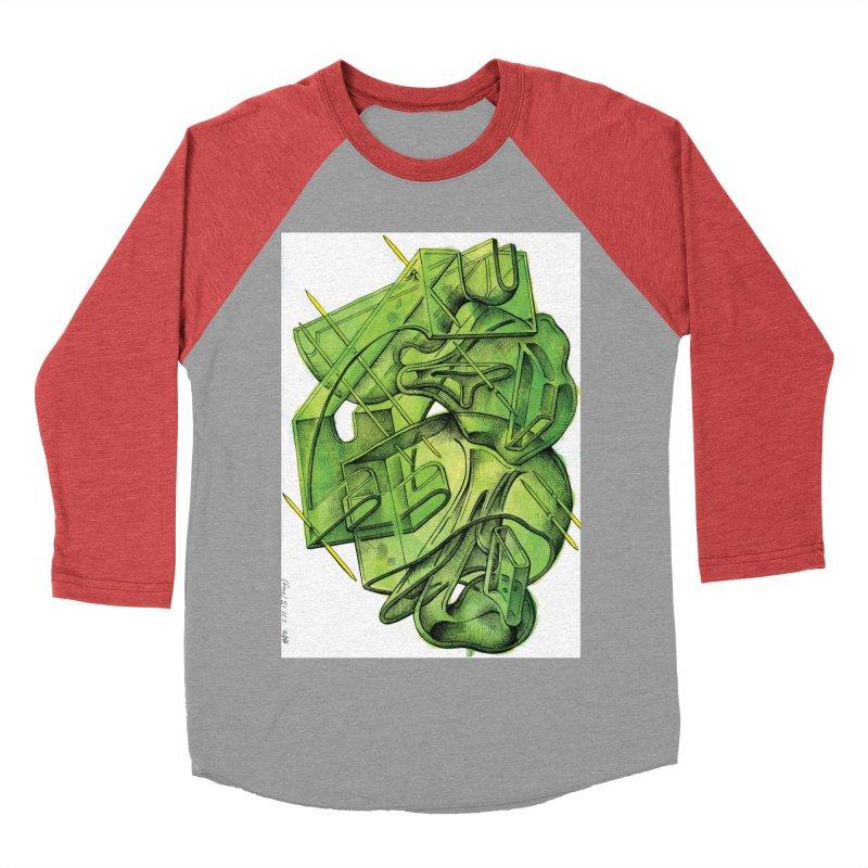 Drawing Blog No.5 - 1.11.13 Women's Baseball Triblend Longsleeve T-Shirt by schizo pop