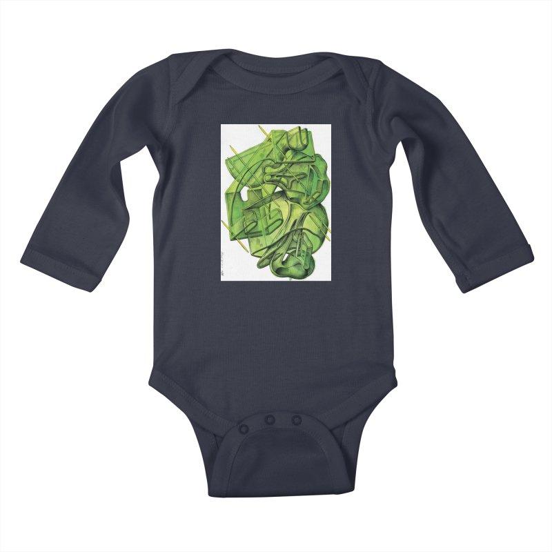 Drawing Blog No.5 - 1.11.13 Kids Baby Longsleeve Bodysuit by schizo pop