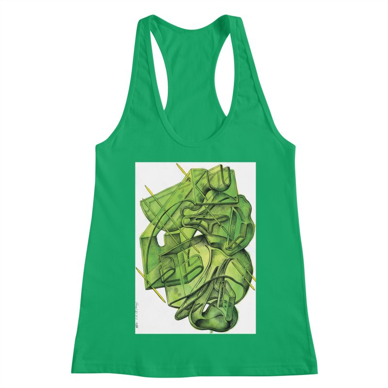 Drawing Blog No.5 - 1.11.13 Women's Tank by schizo pop