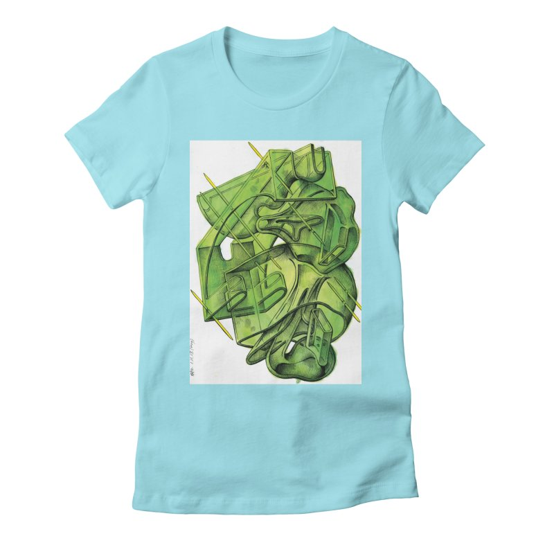 Drawing Blog No.5 - 1.11.13 Women's Fitted T-Shirt by schizo pop