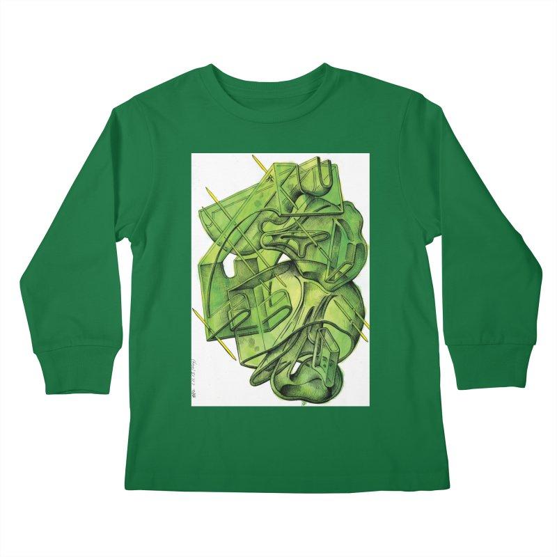 Drawing Blog No.5 - 1.11.13 Kids Longsleeve T-Shirt by schizo pop