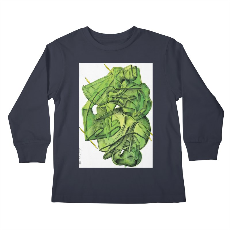 Drawing Blog No.5 - 1.11.13 Kids Longsleeve T-Shirt by schizo pop