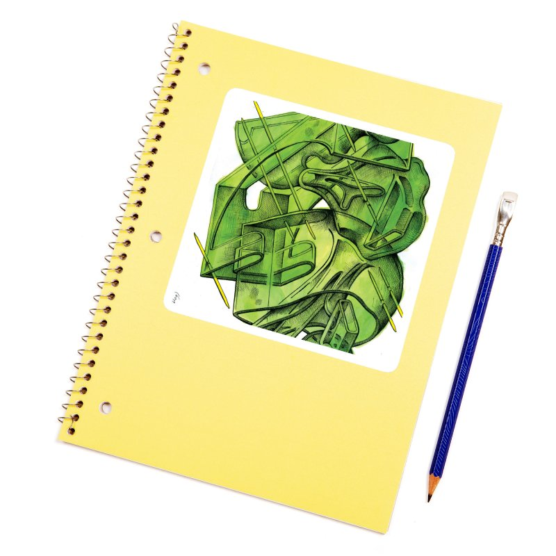 Drawing Blog No.5 - 1.11.13 Accessories Sticker by schizo pop