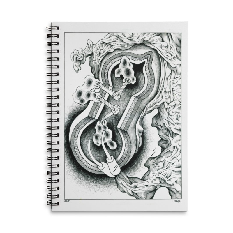 Open Pudding Surgery - 1 Accessories Lined Spiral Notebook by schizo pop