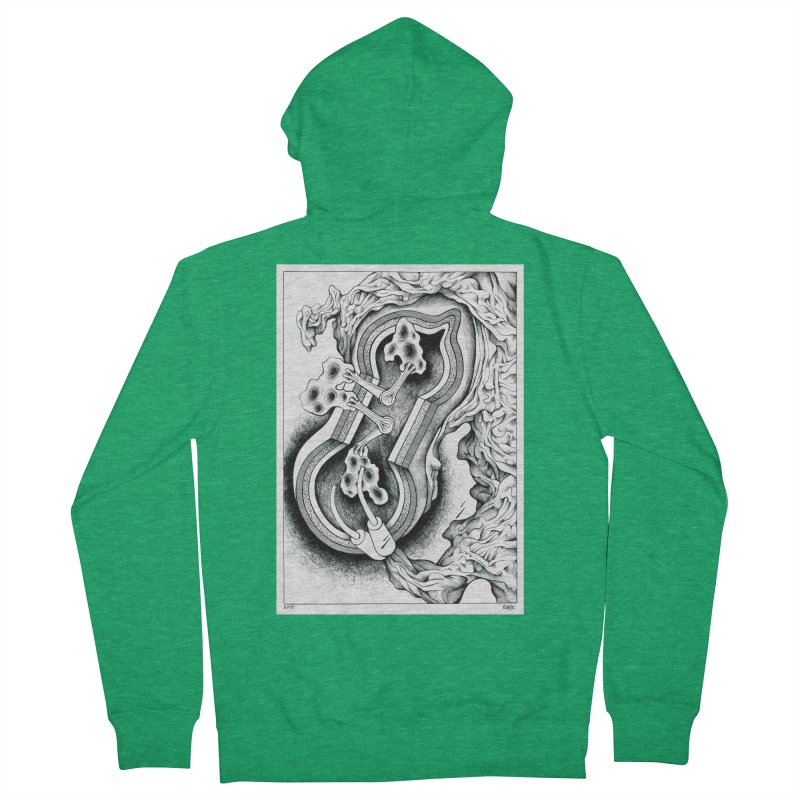 Open Pudding Surgery - 1 Women's French Terry Zip-Up Hoody by schizo pop