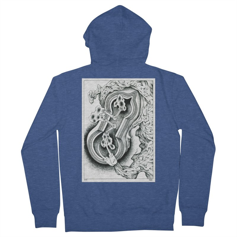 Open Pudding Surgery - 1 Men's French Terry Zip-Up Hoody by schizo pop