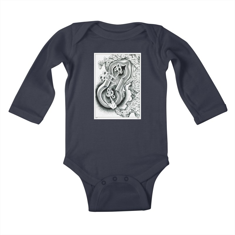 Open Pudding Surgery - 1 Kids Baby Longsleeve Bodysuit by schizo pop
