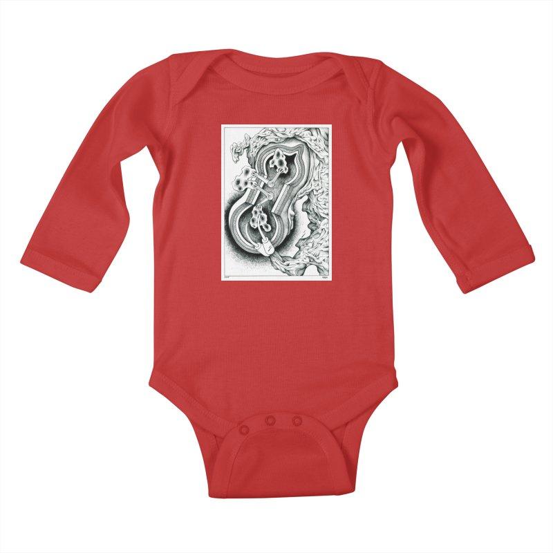 Open Pudding Surgery - 1 Kids Baby Longsleeve Bodysuit by schizo pop