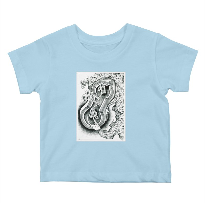 Open Pudding Surgery - 1 Kids Baby T-Shirt by schizo pop