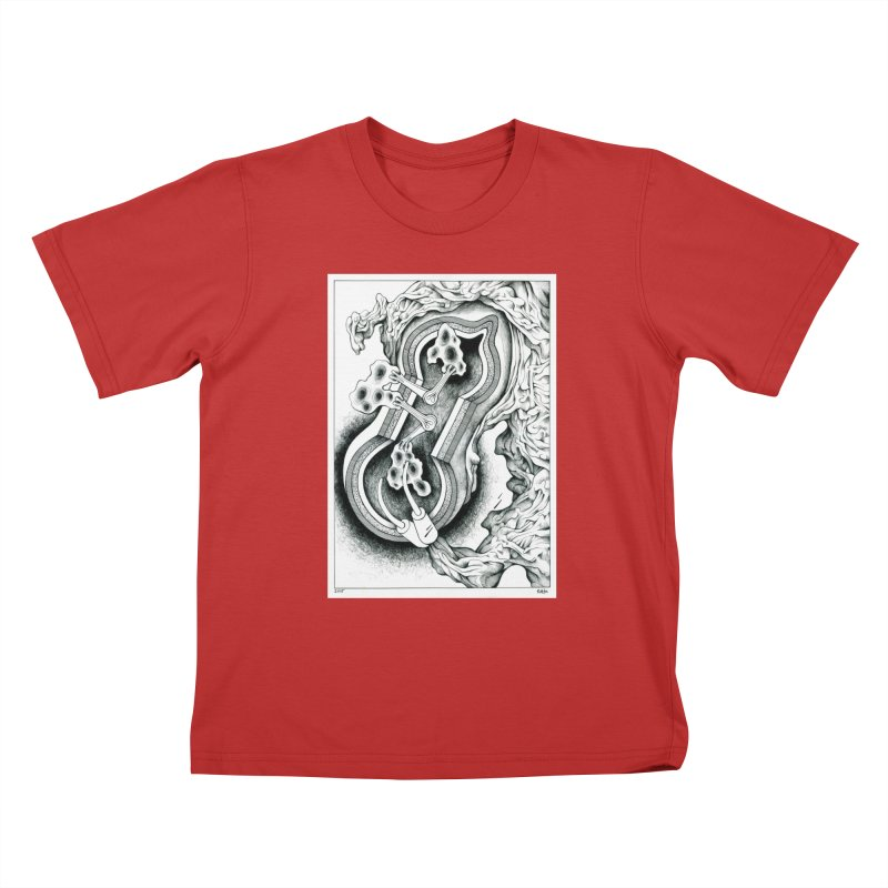 Open Pudding Surgery - 1 Kids T-Shirt by schizo pop