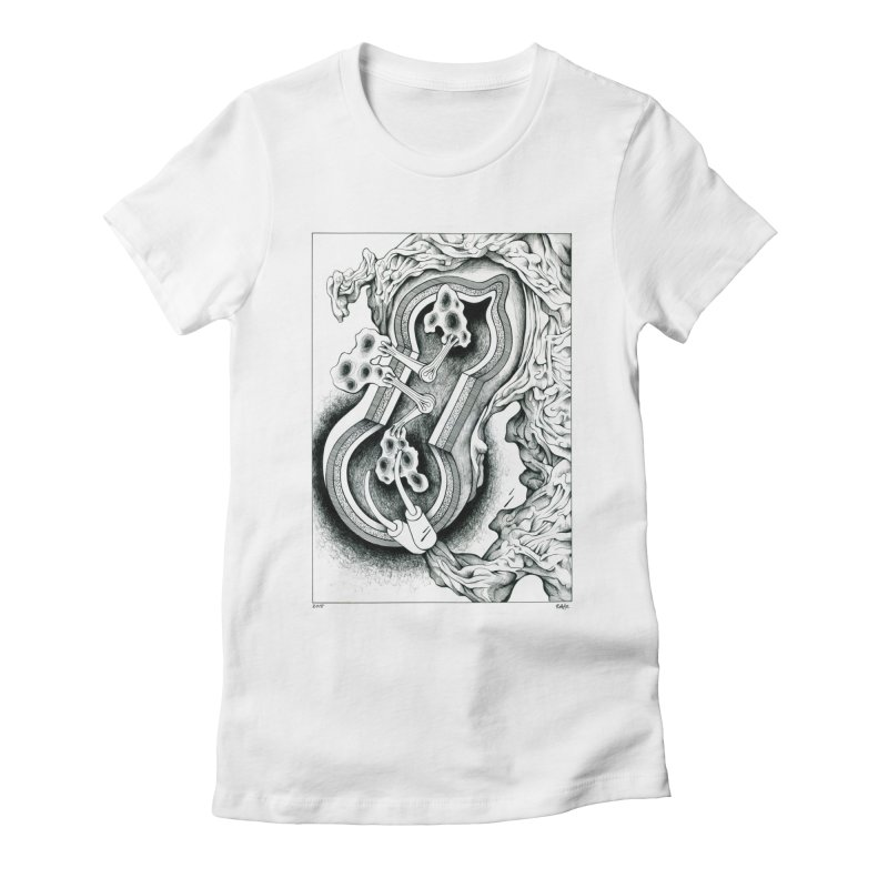 Open Pudding Surgery - 1 Women's Fitted T-Shirt by schizo pop