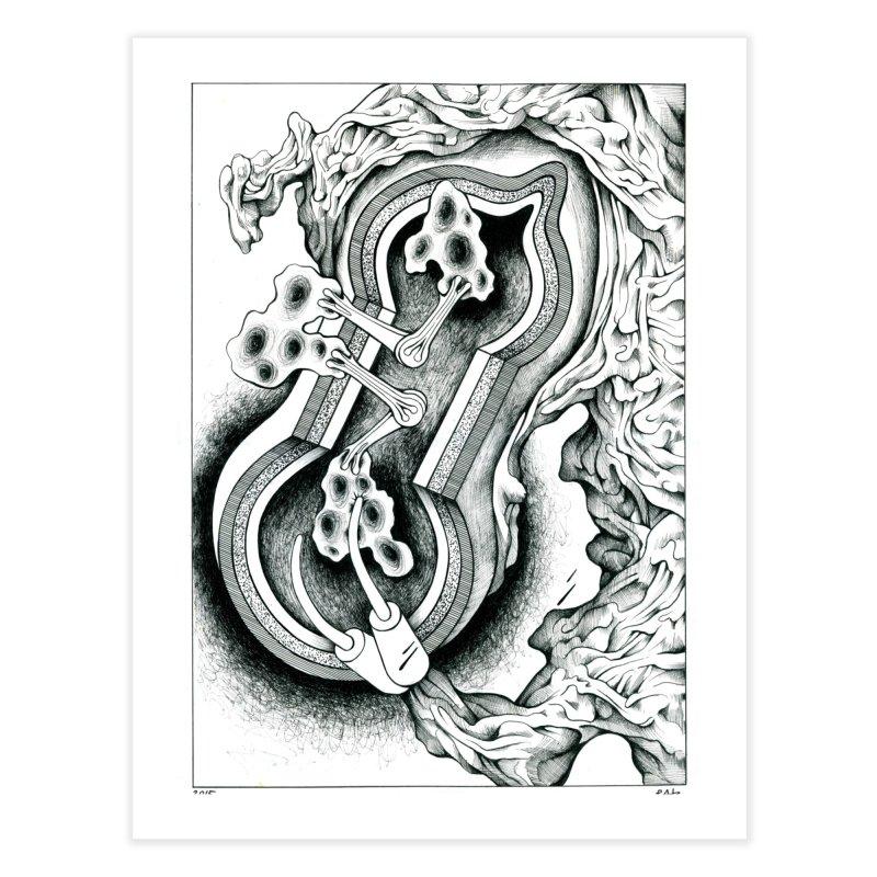 Open Pudding Surgery - 1 Home Fine Art Print by schizo pop