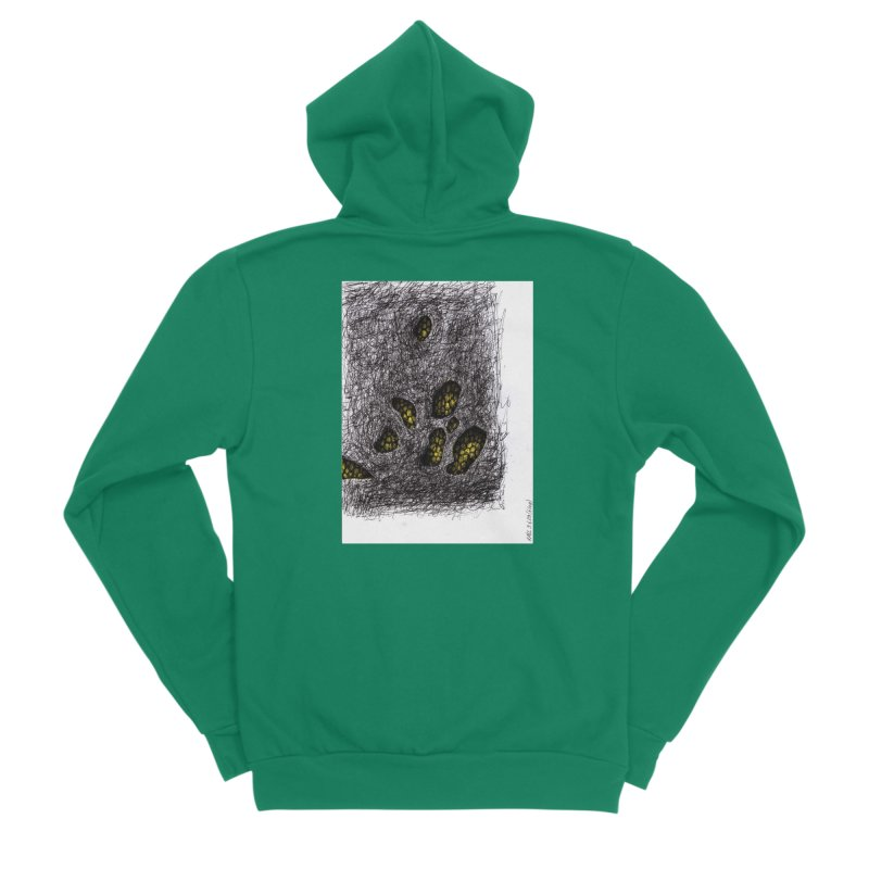 Drawing Blog No.2 - 9.6.09 Women's Sponge Fleece Zip-Up Hoody by schizo pop