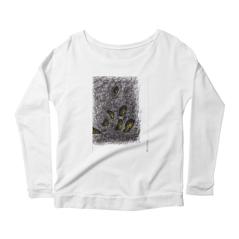 Drawing Blog No.2 - 9.6.09 Women's Scoop Neck Longsleeve T-Shirt by schizo pop