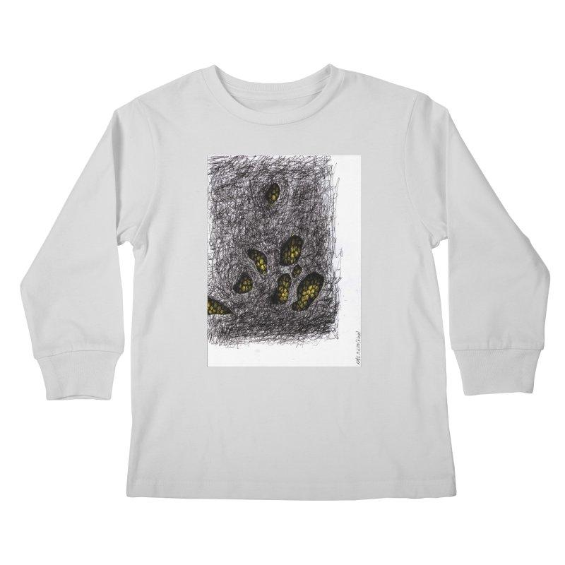 Drawing Blog No.2 - 9.6.09 Kids Longsleeve T-Shirt by schizo pop