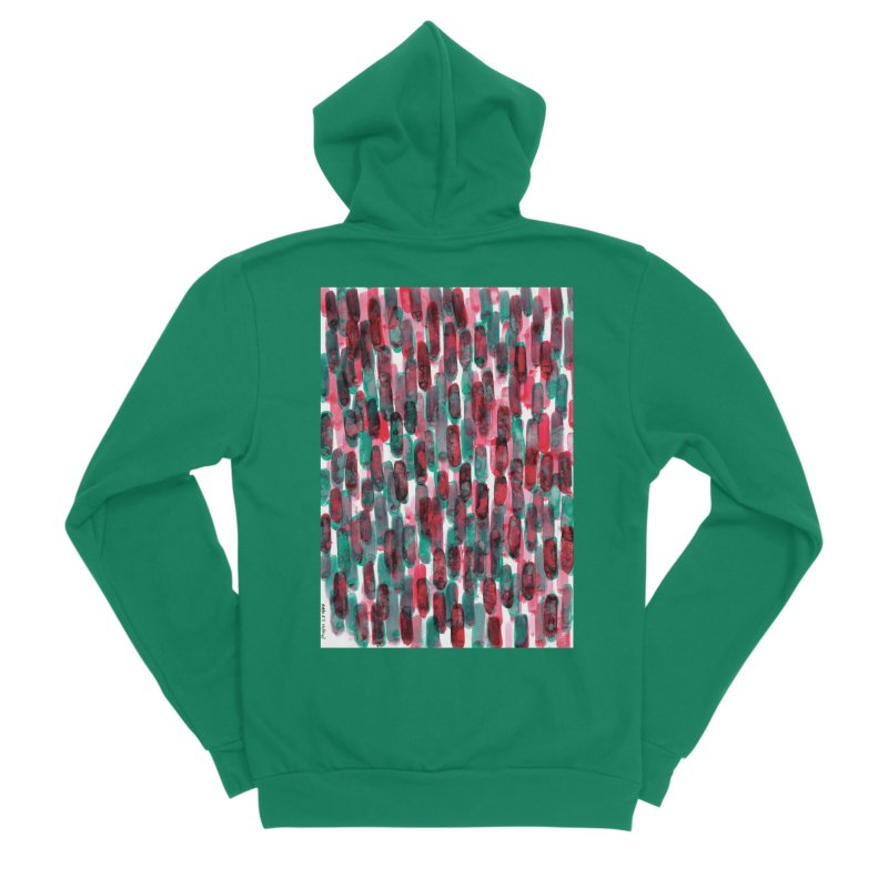 Drawing Blog No.5 - 8.3.14 Women's Sponge Fleece Zip-Up Hoody by schizo pop