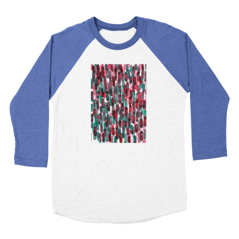 Drawing Blog No.5 - 8.3.14 Men's Baseball Triblend Longsleeve T-Shirt by schizo pop