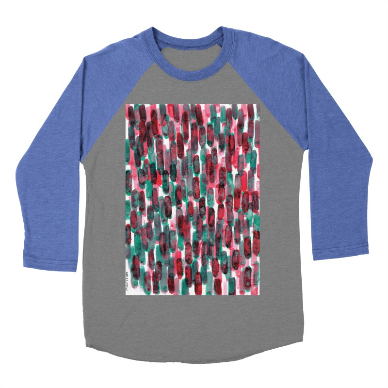 Drawing Blog No.5 - 8.3.14 Women's Baseball Triblend Longsleeve T-Shirt by schizo pop