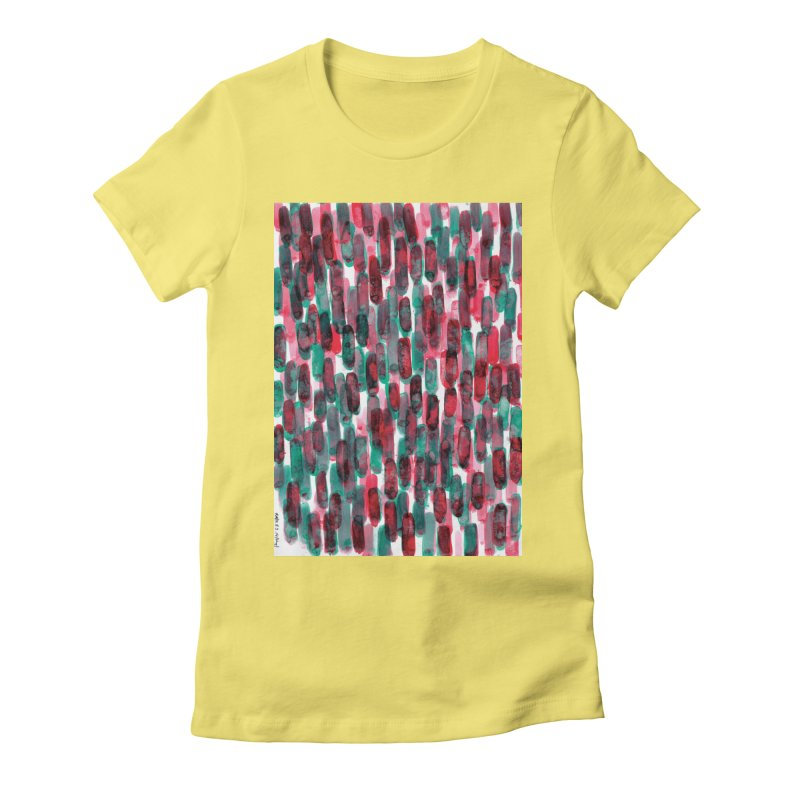 Drawing Blog No.5 - 8.3.14 Women's Fitted T-Shirt by schizo pop