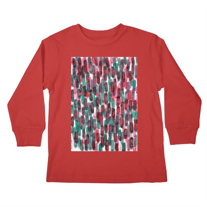Drawing Blog No.5 - 8.3.14 Kids Longsleeve T-Shirt by schizo pop