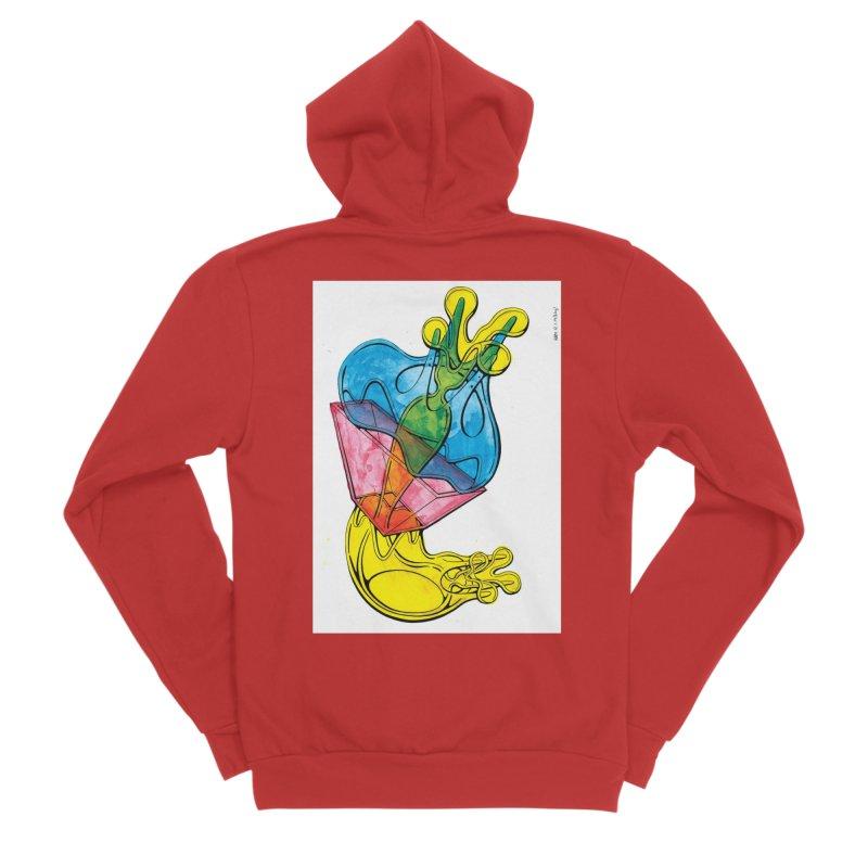 Drawing Blog No.5 - 12.1.14 Women's Sponge Fleece Zip-Up Hoody by schizo pop