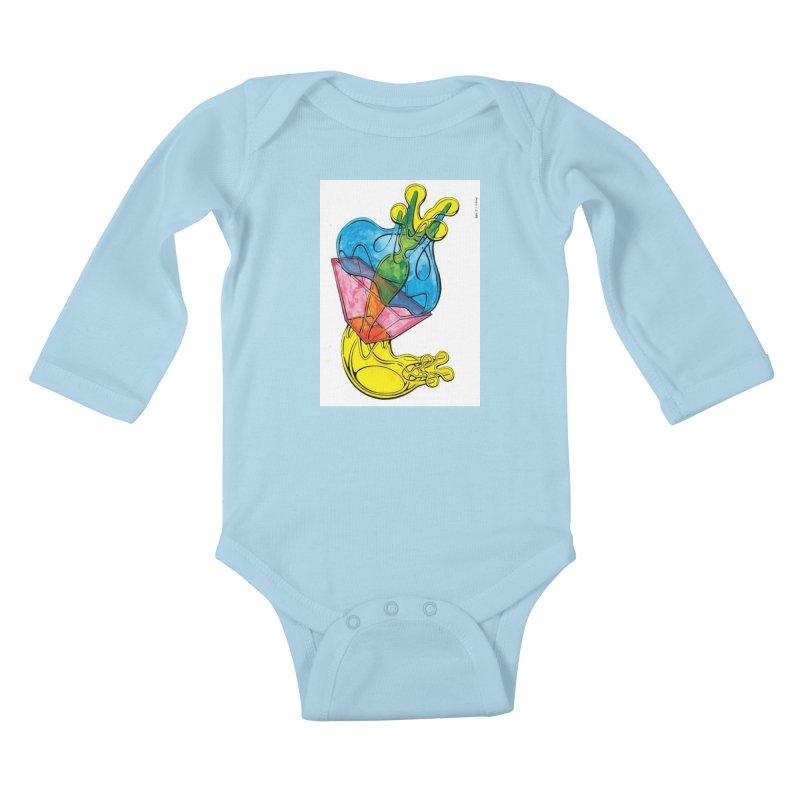 Drawing Blog No.5 - 12.1.14 Kids Baby Longsleeve Bodysuit by schizo pop