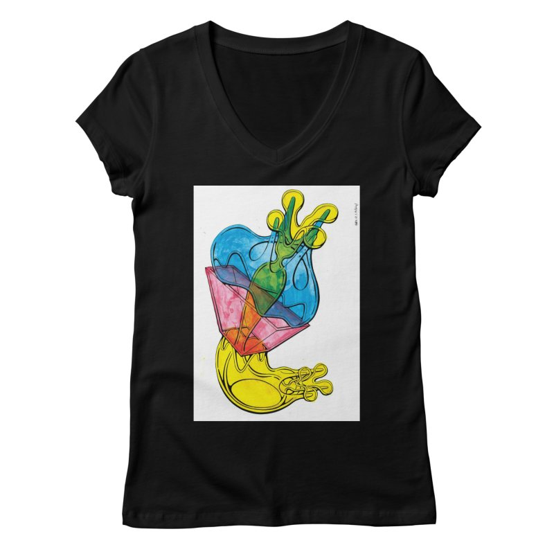Drawing Blog No.5 - 12.1.14 Women's V-Neck by schizo pop
