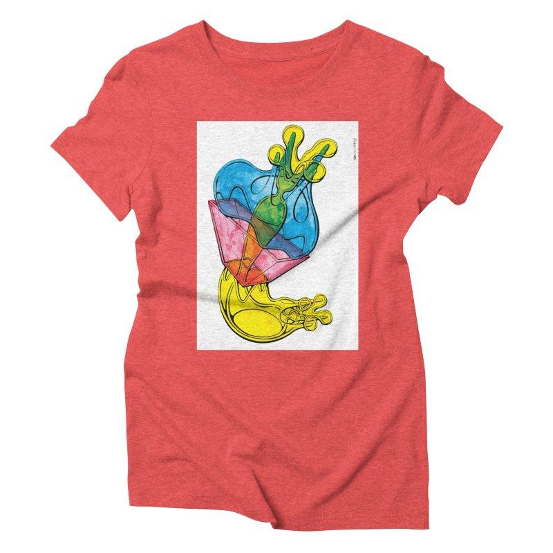 Drawing Blog No.5 - 12.1.14 Women's Triblend T-Shirt by schizo pop