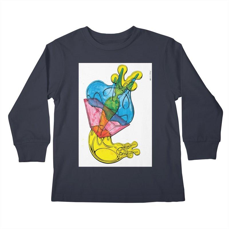 Drawing Blog No.5 - 12.1.14 Kids Longsleeve T-Shirt by schizo pop