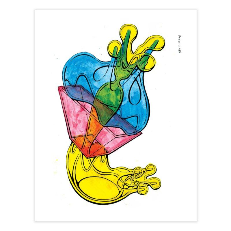 Drawing Blog No.5 - 12.1.14 Home Fine Art Print by schizo pop