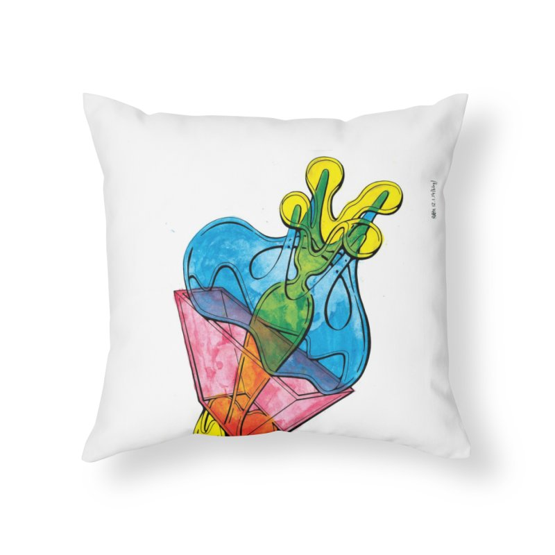 Drawing Blog No.5 - 12.1.14 Home Throw Pillow by schizo pop