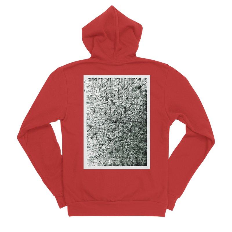 Drawing Blog No.5 - 11.11.13 Men's Zip-Up Hoody by schizo pop