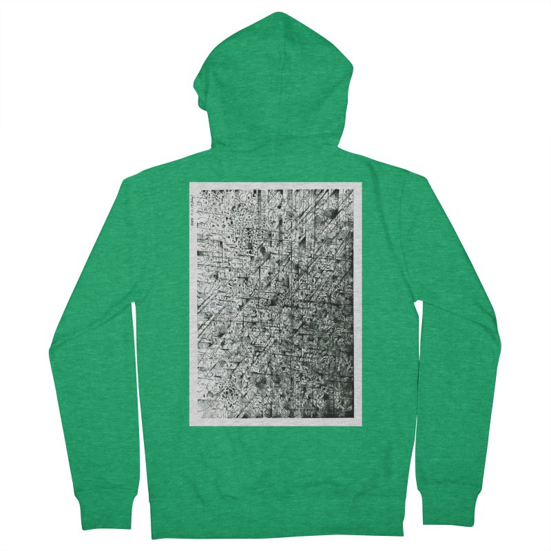 Drawing Blog No.5 - 11.11.13 Men's French Terry Zip-Up Hoody by schizo pop