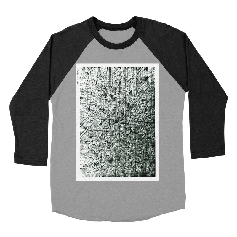 Drawing Blog No.5 - 11.11.13 Women's Baseball Triblend Longsleeve T-Shirt by schizo pop